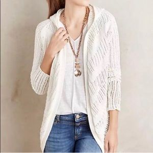Moth | Anthropologie Hooded Open Knit Cardigan